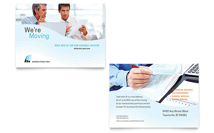 Accounting firm announcement template design flashek Images