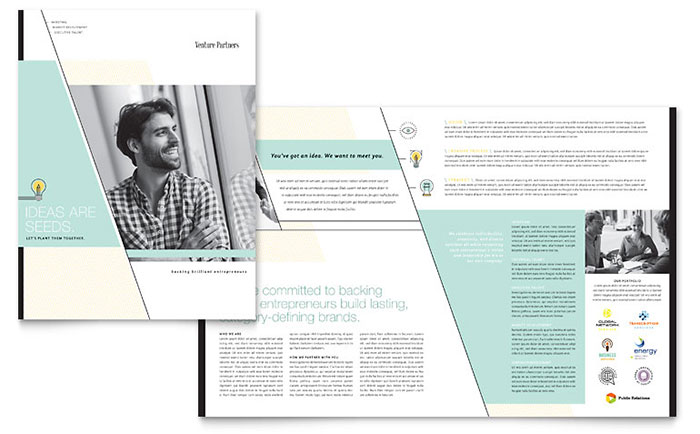 venture capital firm brochure template design