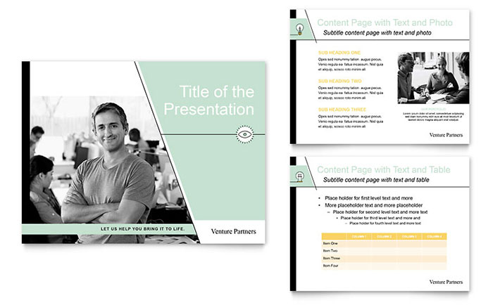 venture capital firm powerpoint presentation template design, Presentation templates