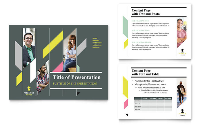Personal finance powerpoint presentation template design for Personal profile design templates