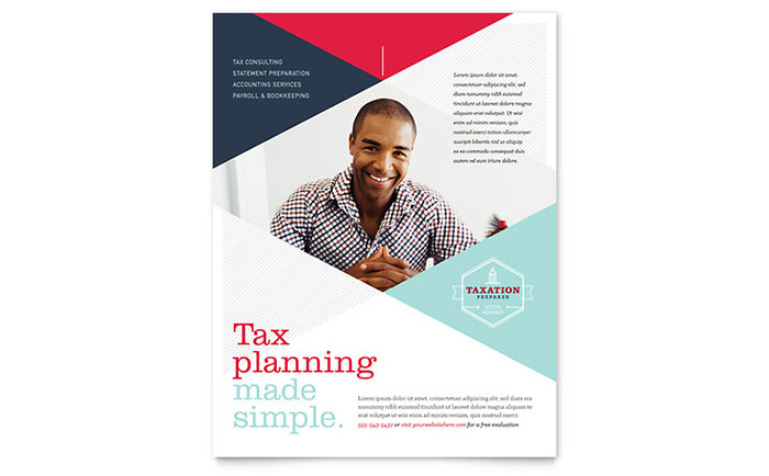 tax preparer flyer template design