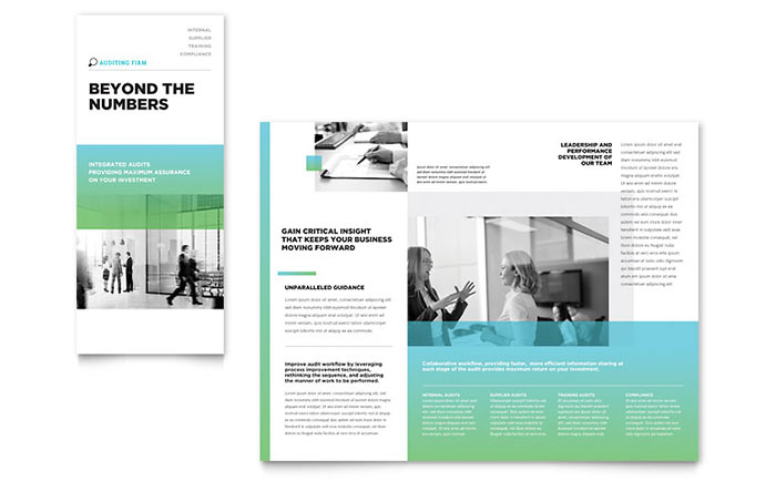 Auditing Firm Tri Fold Brochure Template Design