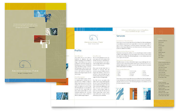 brochure template pdf - architectural firm brochure template design
