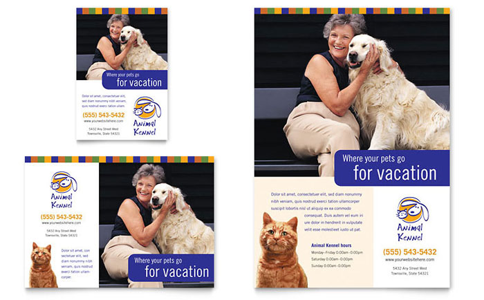 Dog Kennel & Pet Day Care Flyer & Ad Template Download - InDesign, Illustrator, Word, Publisher, Pages