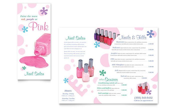 Nail Salon Brochure Template Design