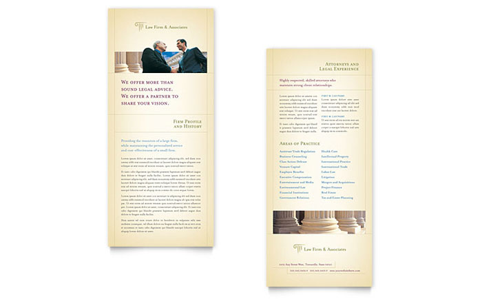 Attorney & Legal Services Rack Card Template Design
