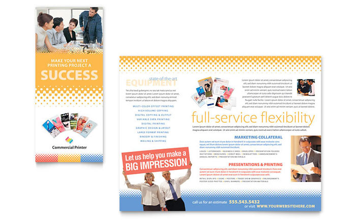Commercial Printer Brochure Template Download - InDesign, Illustrator, Word, Publisher, Pages