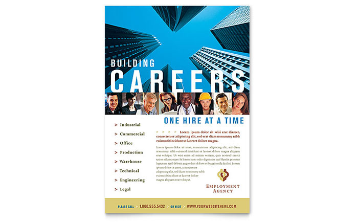 human resources flyers templates designs professional services employment agency jobs fair