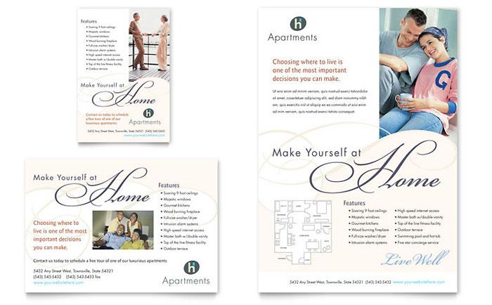 Apartment condominium flyer ad template design for Apartment marketing plan template