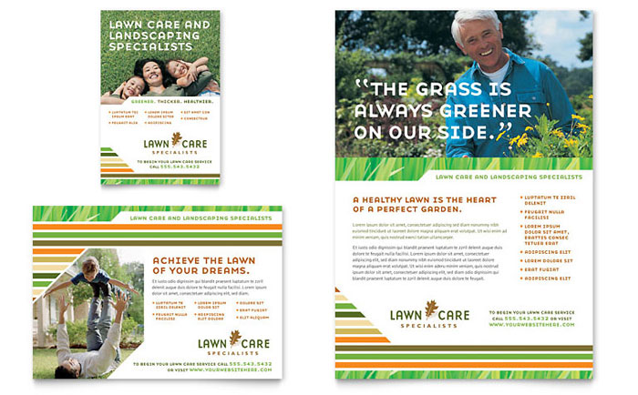 Lawn Care Mowing Flyer Ad Template Design Indesign Ilrator Word
