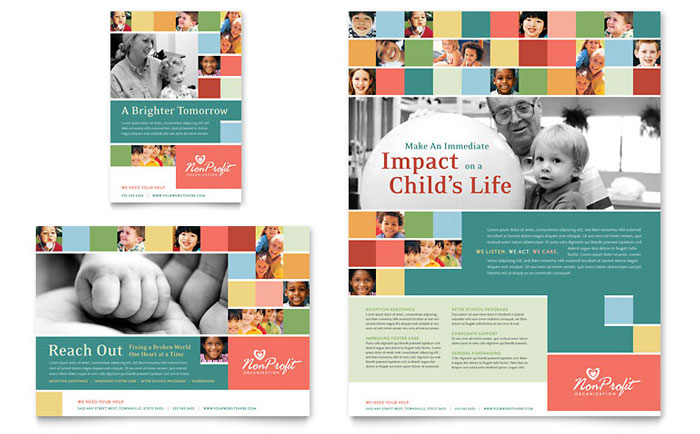 Non Profit Association For Children Flyer Amp Ad Template Design