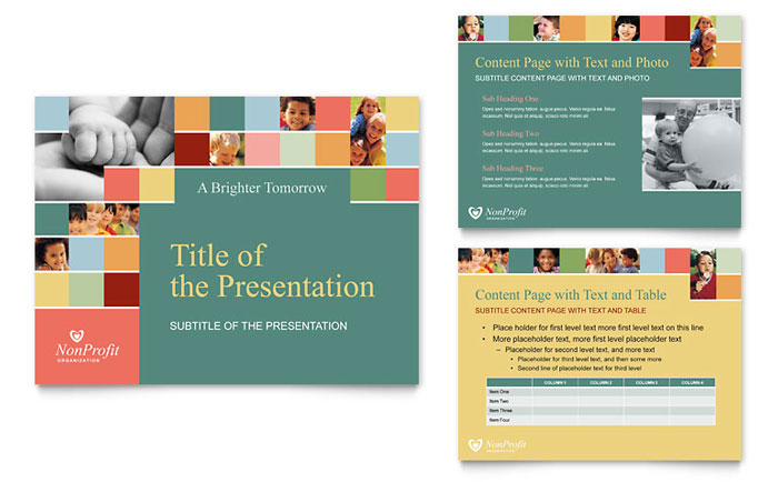 Non profit association for children powerpoint for Non profit charter template