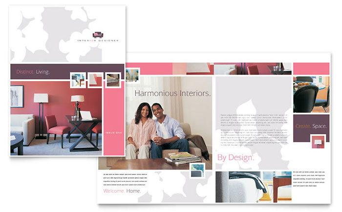 Interior Designer Brochure Template Design