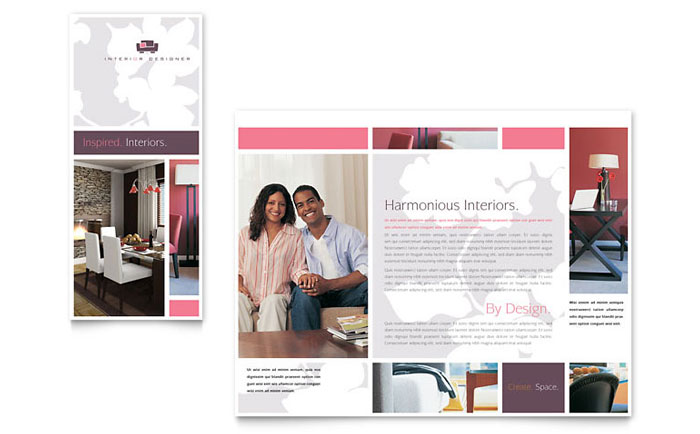 Interior Designer Tri Fold Brochure Template Design Unique Interior Design Newsletter