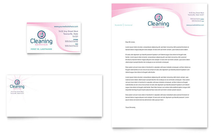 House cleaning maid services business card letterhead template house cleaning maid services business card letterhead template design colourmoves