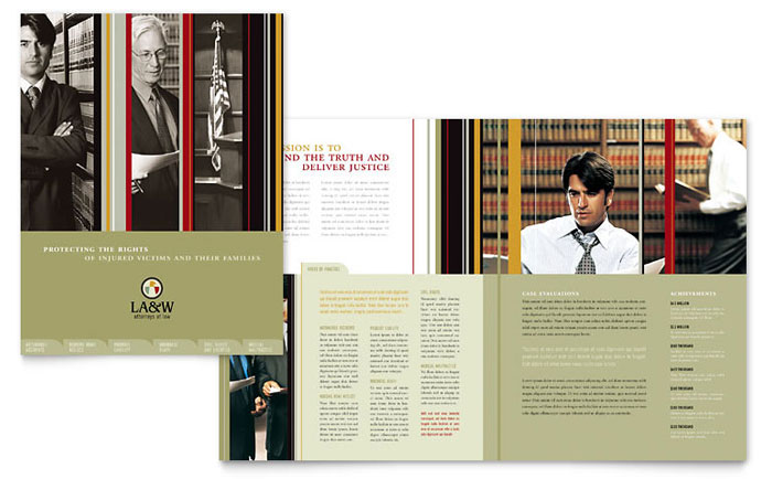 legal size brochure template - lawyer law firm brochure template design