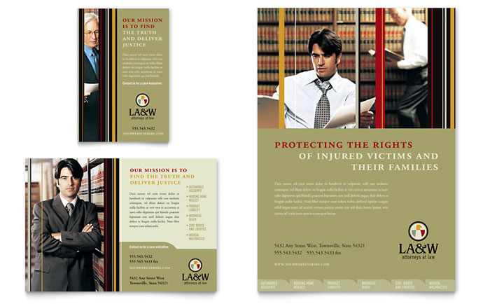 lawyer law firm flyer ad template design