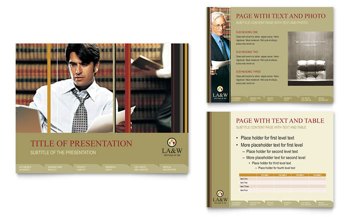 lawyer  u0026 law firm powerpoint presentation template design