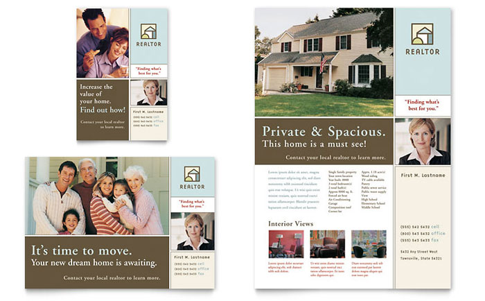Home For Sale Brochure Stunning House For Sale Real Estate Flyer & Ad Template Design