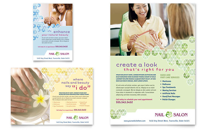 Nail Salon Flyer  Ad Template Design