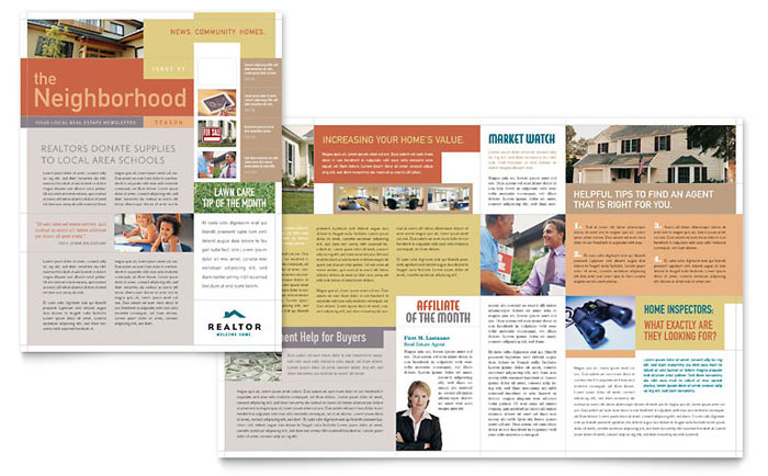 realtor newsletter templates realtor real estate agency newsletter template design