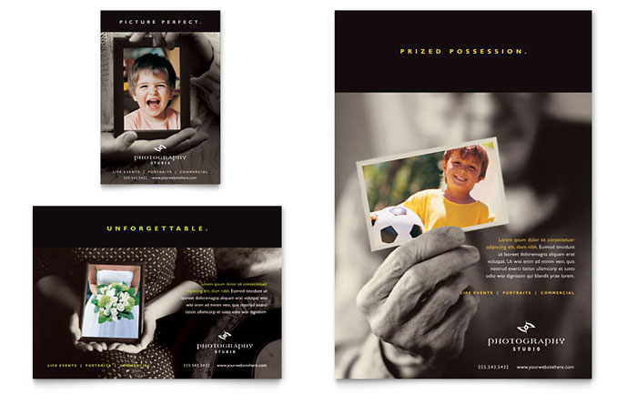 Photography Studio Flyer  Ad Template Design