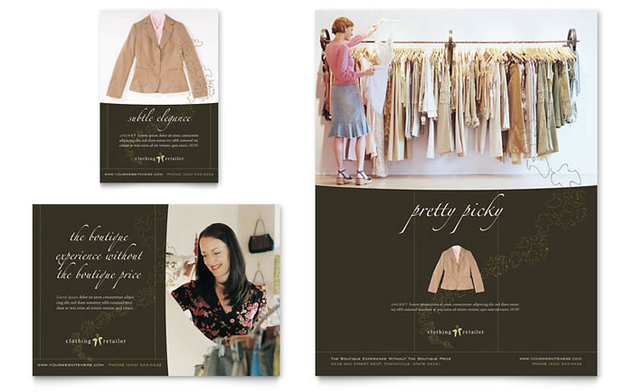 WomenS Clothing Store Brochure Template Design
