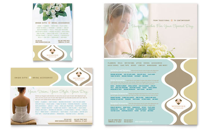 Wedding Store  Supplies Flyer  Ad Template Design