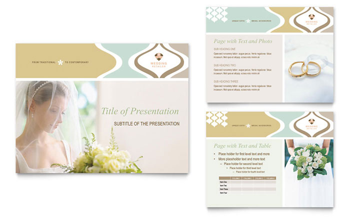 Wedding Store  Supplies Powerpoint Presentation Template Design