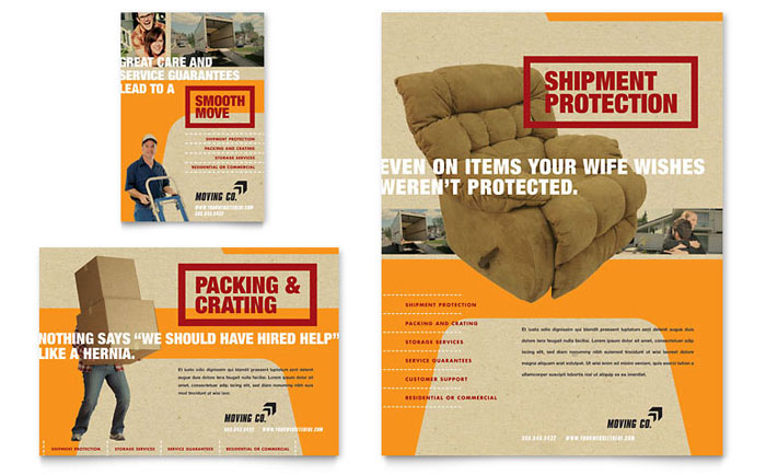 movers moving company flyer ad template design