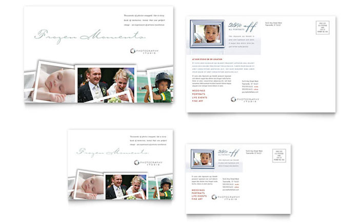 Photographer Postcard Template Design