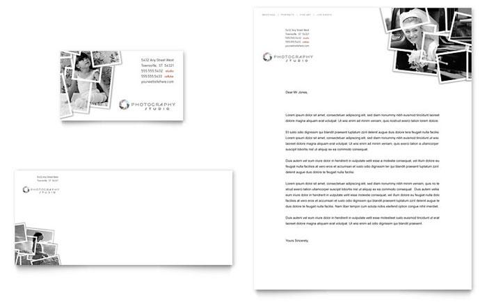 photographer business card letterhead template design
