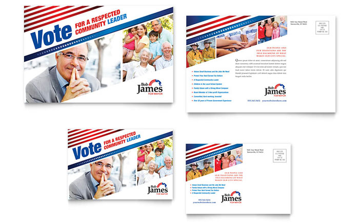 Political campaign business card letterhead template design political campaign matching templates colourmoves