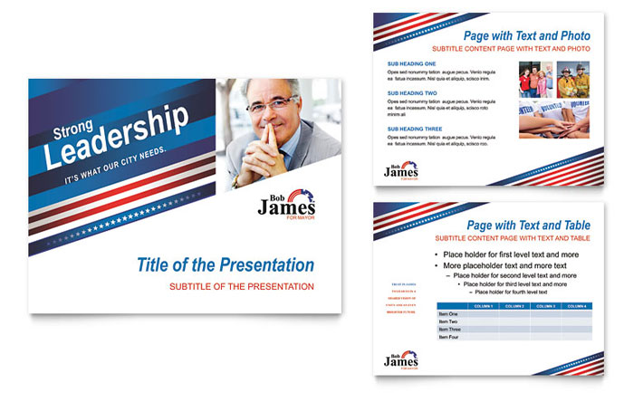 Political Campaign PowerPoint Presentation Template Design - Political campaign brochure template