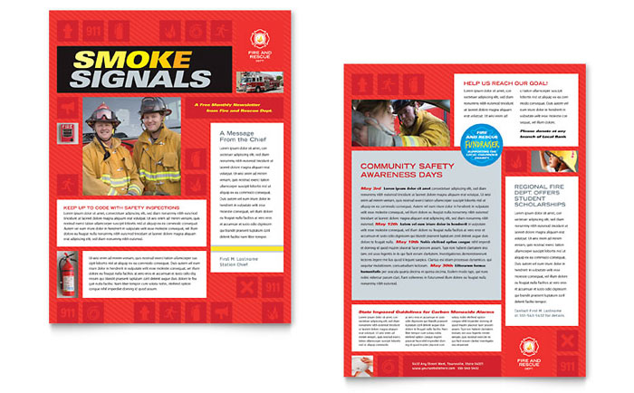 Newsletter Example - Fire Safety