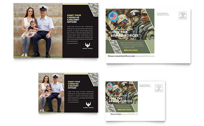 Military Postcard Design Sample