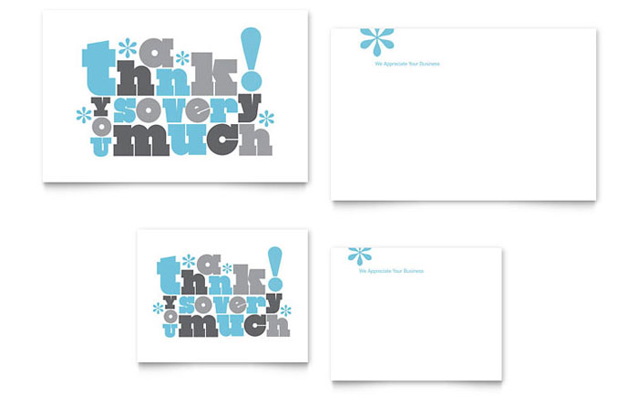 Thank You Cards Templates  Brochures Flyers Business Cards