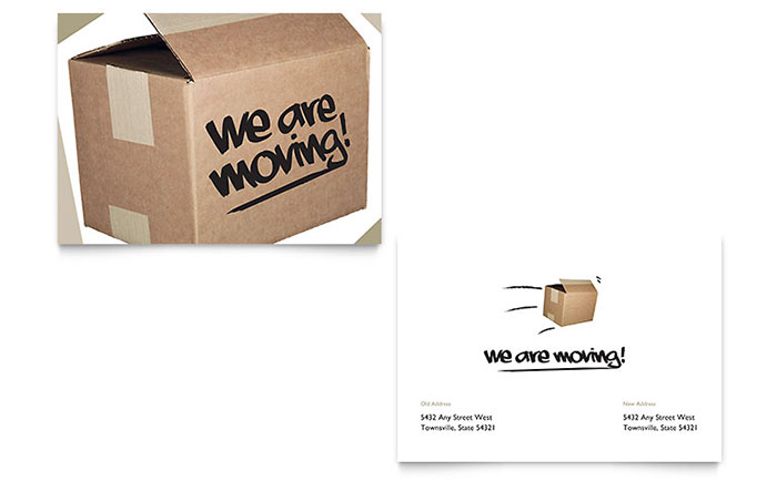 Were moving announcement template design accmission