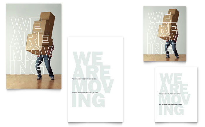 We're Moving Note Card Template Design Download - InDesign, Illustrator, Word, Publisher, Pages