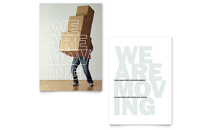 Were moving announcement template design accmission Choice Image