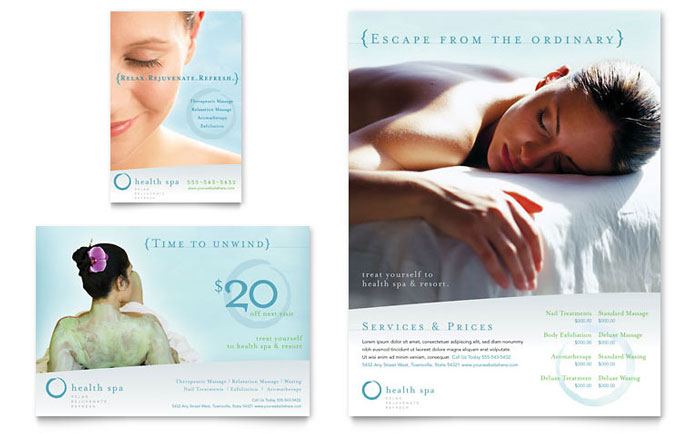 Day Spa u0026 Resort Flyer u0026 Ad Template Design