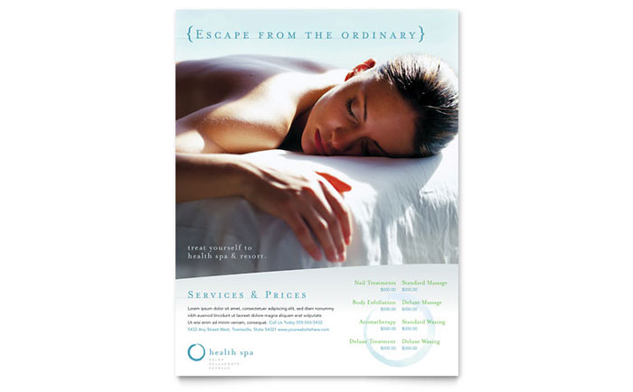 Health Spa Flyers Templates Graphic Designs