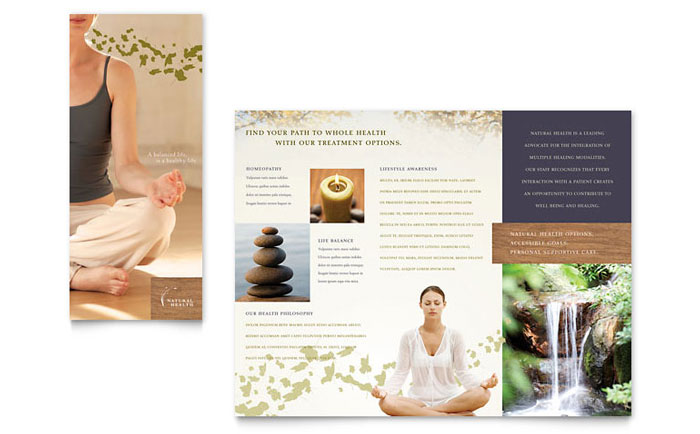Naturopathic medicine brochure template design for Massage brochure template