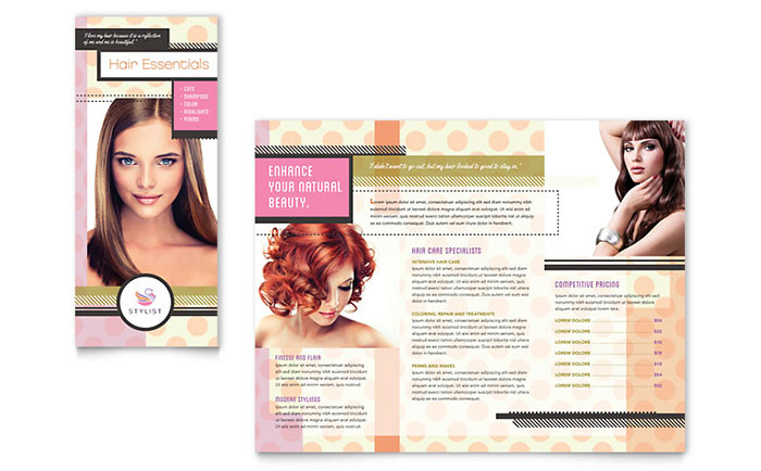 Hairstylist Brochure Template Design