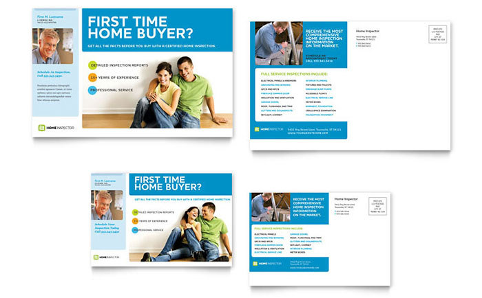 Home Inspection Inspector Flyer Ad Template Design
