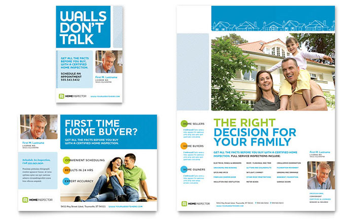 free mortgage flyer templates - home inspection inspector flyer ad template design