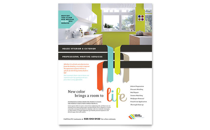 House Painter Flyer Template Design