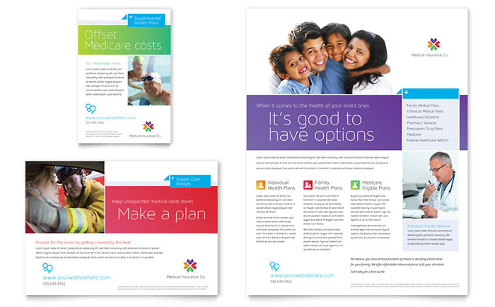 insurance advertising template design  Medical Insurance Flyer