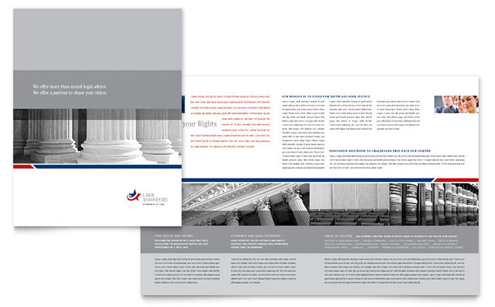 legal  u0026 government services brochure template design