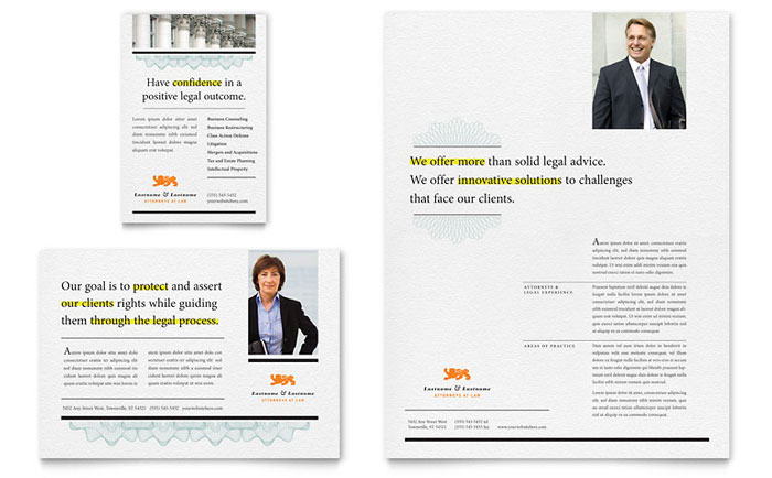 Attorney Flyer & Ad Template Download - InDesign, Illustrator, Word, Publisher, Pages